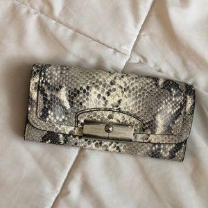 Coach snake skin wallet 🤩